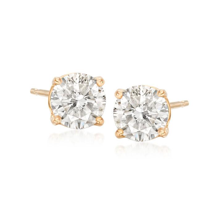 1.25 ct. t.w. Diamond Stud Earrings in 14kt Yellow Gold