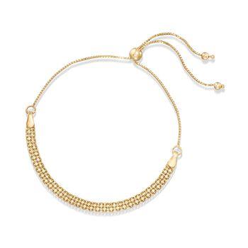 14kt Yellow Gold Bismark Bolo Bracelet , , default