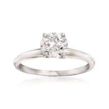 1.00 Carat Diamond Solitaire Ring in Platinum, , default