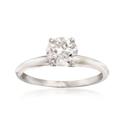 1.00 Carat Diamond Solitaire Ring in Platinum, , default