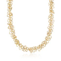 "Italian 14kt Yellow Gold Multi-Link Necklace. 18"", , default"