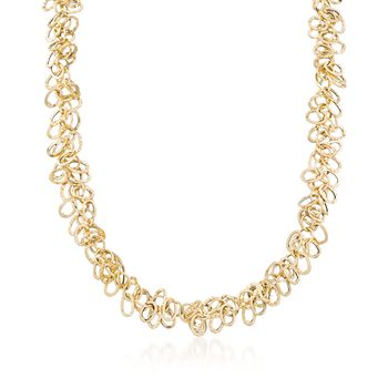 """Italian 14kt Yellow Gold Multi-Link Necklace. 18"""", , default"""