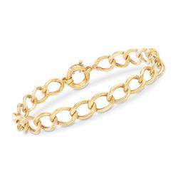 Oval Link Bracelet in 22kt Yellow Gold, , default