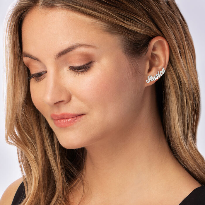 Sterling Silver Personalized Ear Climber