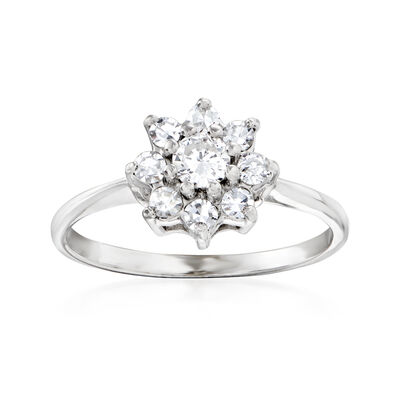 C. 1970 Vintage .50 ct. t.w. Cluster Ring in 14kt White Gold