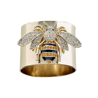 Joanna Buchanan Stripey Bee Napkin Rings, , default
