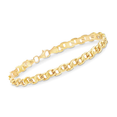 22kt Yellow Gold Small-Link Bracelet, , default