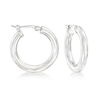 Sterling Silver Hoop Earrings , , default