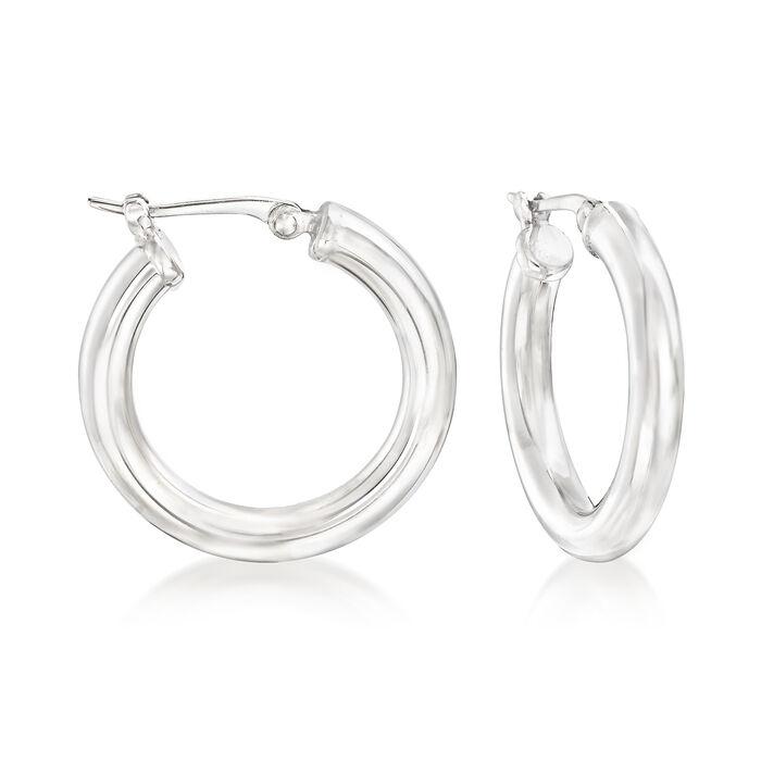 """Sterling Silver Hoop Earrings. 3/4"""", , default"""