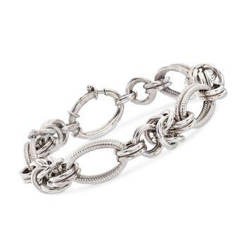 """Italian Sterling Silver Oval Link Bracelet. 7"""", , default"""