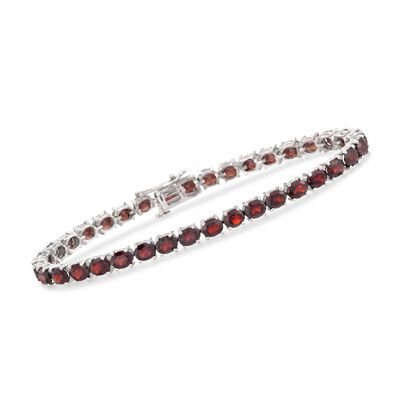 18.00 ct t.w. Garnet Tennis Bracelet in Sterling Silver, , default