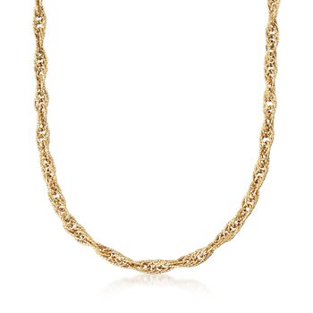 """18kt Yellow Gold Large Link Rope Chain Necklace. 18"""", , default"""