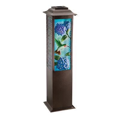 """Hummingbird"" Outdoor Decorative Solar-Powered Garden Lantern, , default"