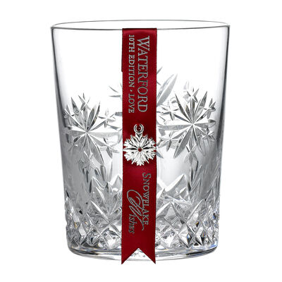 "Waterford Crystal ""Snowflake Wishes"" Love Double Old Fashioned Glass"
