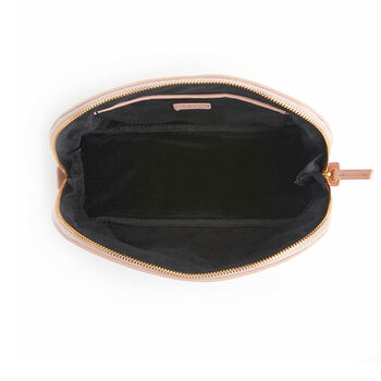Royce Blush Pink Leather Cosmetic Bag, , default