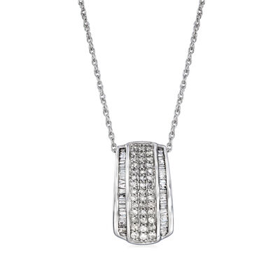 .50 ct. t.w. Diamond Pendant Necklace in 14kt White Gold, , default
