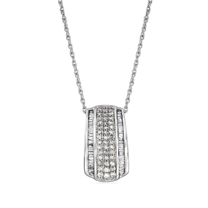 .50 ct. t.w. Diamond Pendant Necklace in 14kt White Gold