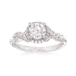 Gabriel Designs .15 ct. t.w. Diamond Engagement Ring Setting in 14kt White Gold, , default