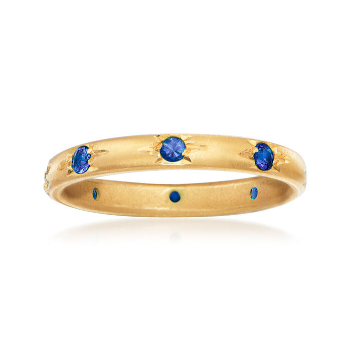 Mazza .40 ct. t.w. Sapphire Eternity Band in 14kt Yellow Gold. Size 6.5, , default