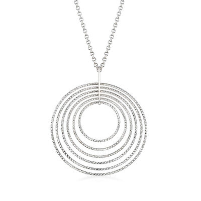 "Charles Garnier ""Saturnia"" Multi-Circle Pendant Necklace in Sterling Silver, , default"