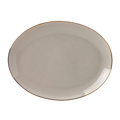"Lenox ""Trianna Taupe"" Porcelain Oval Platter, , default"