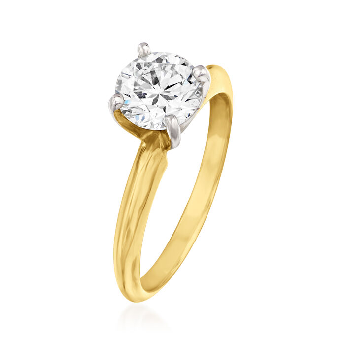 1.21 Carat Certified Diamond Engagement Ring in 14kt Yellow Gold
