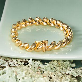 Italian 18kt Gold Over Sterling Silver San Marco Bracelet, , default
