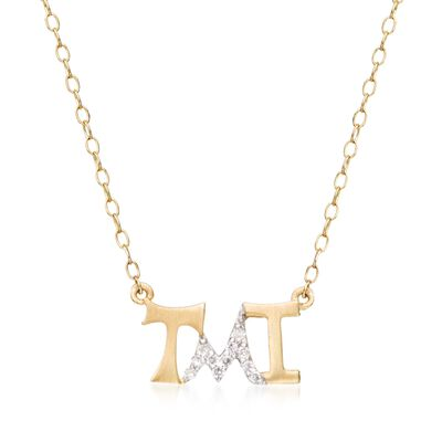 "14kt Yellow Gold ""Tmi"" Necklace with Diamond Accents, , default"