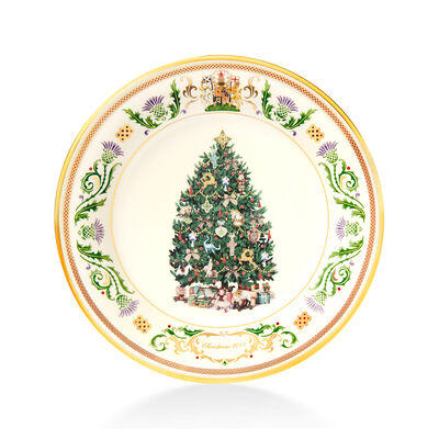 """Lenox 2019 Annual Porcelain """"Trees Around the World"""" Plate - 29th Edition, , default"""