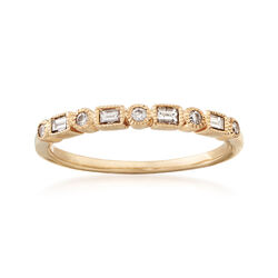 C. 1990 Vintage .95 ct. t.w. Multi-Shape Diamond Ring in 14kt Yellow Gold. Size 8, , default