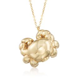 "Italian 14kt Yellow Gold Crab Pendant Necklace. 18"", , default"