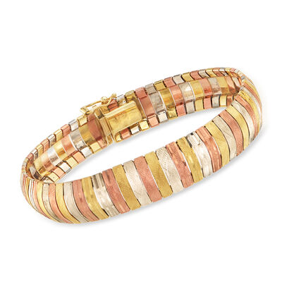 C. 1980 Vintage 14kt Tri-Colored Gold Bracelet