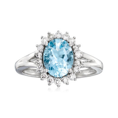 1.80 Carat and .33 ct. t.w. Diamond Halo Ring in 18kt White Gold, , default
