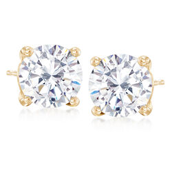 5.00 ct. t.w. CZ Stud Earrings in 14kt Yellow Gold, , default