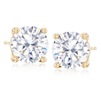 5.00 ct. t.w. CZ Stud Earrings in 14kt Yellow Gold , , default
