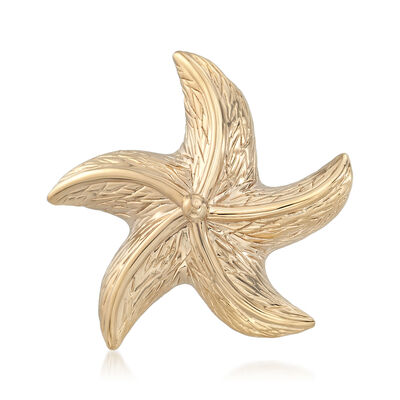 14kt Yellow Gold Starfish Pin Pendant, , default