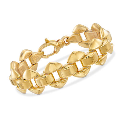 Italian Andiamo 14kt Yellow Gold Triangle Bracelet, , default