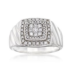 Men's .63 ct. t.w. Diamond Ring in 14kt White Gold, , default