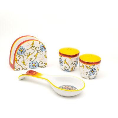 """Euro Ceramica """"Duomo"""" Renaissance Set of 4 Serveware"""