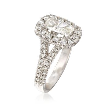 Henri Daussi 1.77 ct. t.w. Certified Diamond Engagement Ring in 18kt White Gold. Size 6.5