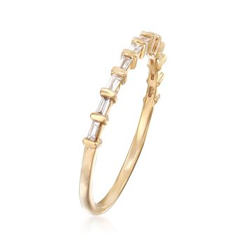 .16 ct. t.w. Baguette Diamond Band in 14kt Yellow Gold , , default