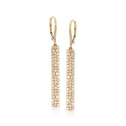 1.55 ct. t.w. Diamond Multi-Row Earrings in 14kt Yellow Gold, , default