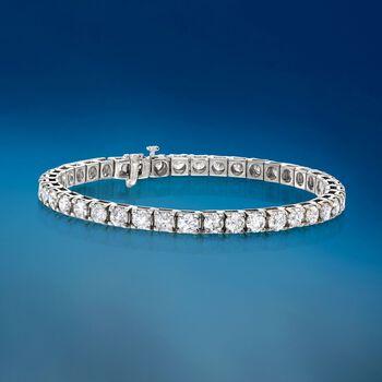 10.00 ct. t.w. Diamond Tennis Bracelet in 14kt White Gold, , default