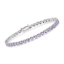 "3.50 ct. t.w. Amethyst Tennis Bracelet in Sterling Silver. 7.25"", , default"