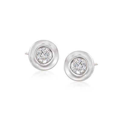 .12 ct. t.w. Diamond Stud Earrings in 14kt White Gold, , default