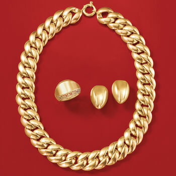 Italian 14kt Yellow Gold Filigree-Edged Ring