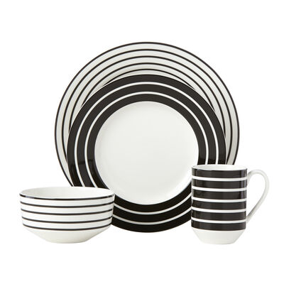 "Kate Spade New York ""Primrose Drive"" 4-pc. Stripe Ceramic Place Setting, , default"