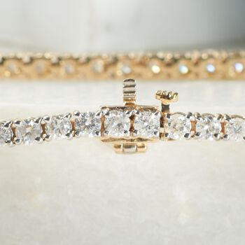5.00 ct. t.w. Diamond Tennis Bracelet in 14kt Yellow Gold, , default
