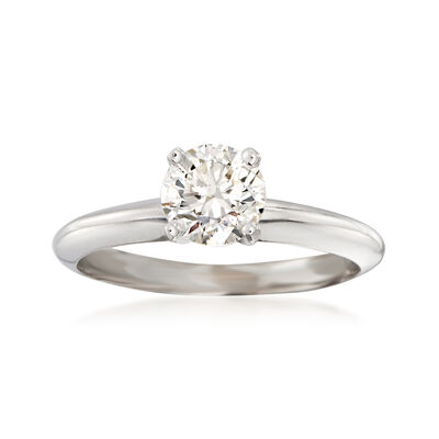 .81 Carat Certified Diamond Solitaire Ring in 14kt White Gold
