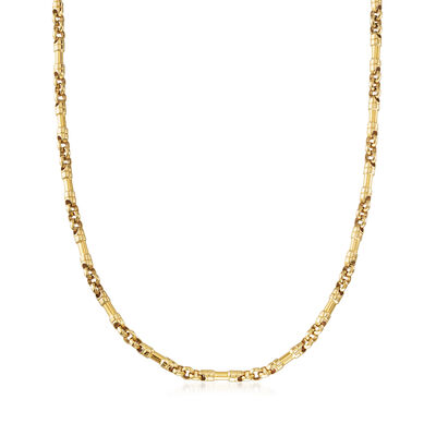C. 1980 Vintage Tiffany Jewelry 18kt Yellow Gold Link Chain Necklace, , default